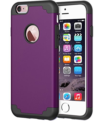 Cheap iPhone 7 Case, Alkax Slim Dual Layer Heavy Duty Rugged Style  Hybrid Shock Absorption Scratch Resistant Protective Cover Bumper + 1 Stylus Pen for Apple iPhone 7