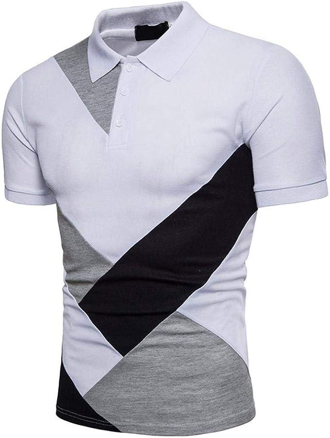 BoBoLily Camisa De Polo para Hombre Solapa Básica De Verano ...