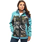 TrailCrest Women's Tactical Full Zip Softshell Jacket Mossy Oak Camo Patterns (Teal Heather - XXX-Large)