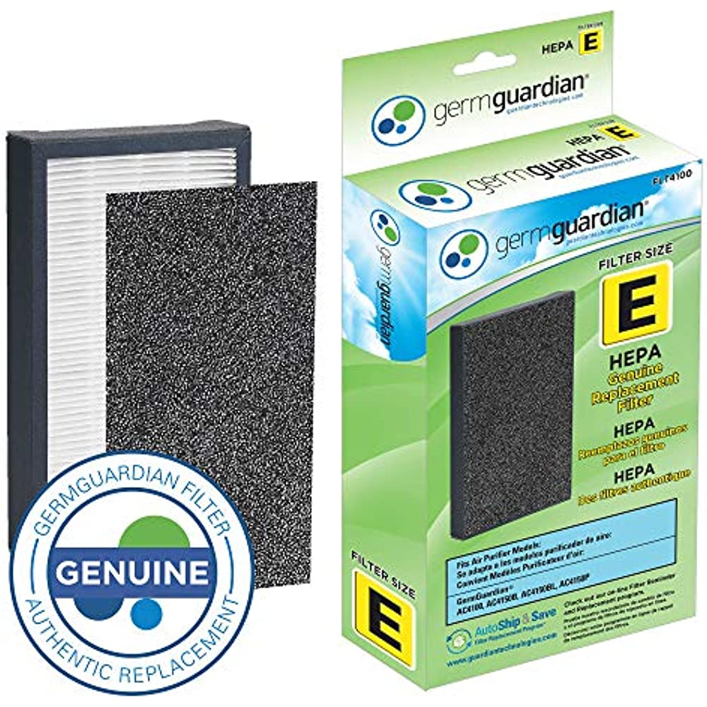 AC4150PCA Germ Guardian Air Purifiers GermGuardian Air Purifier  Filter FLT4100 GENUINE HEPA Replacement Filter E for AC4100 AC4100CA AC4150BL