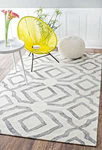 Contemporary Handmade Abstract Wool Light Rug