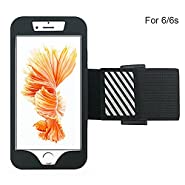 iPhone 6, 6S Sports Armband - Bundle with Screen Protector, Reflective Strip, Water Resistant for Galaxy S3/S4, iPhone 5/5C/5S - 4.7 Inch