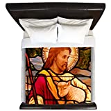 King Duvet Cover Jesus Christ Lamb Stained Glass