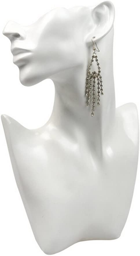 handmade wound string necklace display bust retail display jewellery big