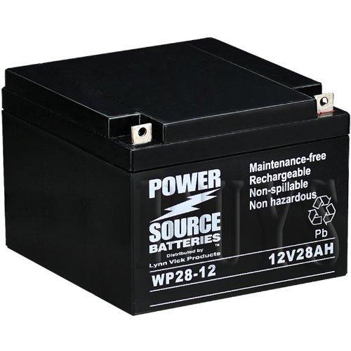 WP28-12 Sealed AGM 12v 28 ah Battery replaces BP28-12, BPL28-12, BP28-12B1, BC28-12, FG22703, FGC22703, FP12280, DJW12-28, LP12-28, JB12-028HR, SP28-12, EV28-12, NB12-28, NT12-28, NTD12-28, PS28-12, PS28L-12, PS28D-12, PG-12V28, RT12280, FM12280, 6-FM-28, SW12280, RGT12-27 ()