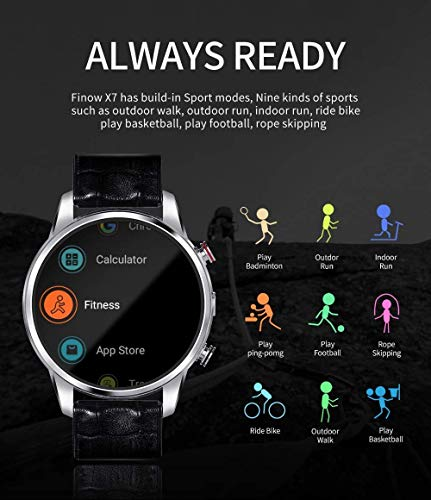 FINOW X7 - Reloj Inteligente MTK6739 Procesador (Negro ...