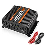 POTEK 1500W Power Inverter Dual AC Outlets 12V DC to 110V AC Car Inverter with 2 USB Port