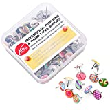 #10: Creative Steel Thumb Tacks Soft Flat for Photos Wall, Maps, Bulletin Board or Corkboards, 100 Pieces