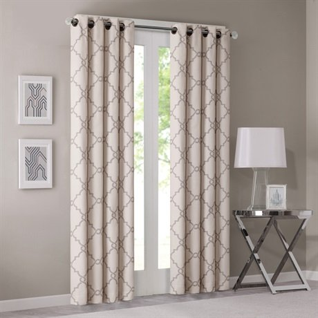 Madison Panel Bed (Madison Park Saratoga Fretwork Print Window Curtain Beige 95 Panel)
