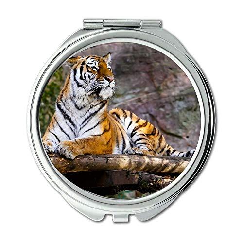Mirror,Compact Mirror,animal big cat jungle,pocket mirror,portable -