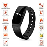Asyou ID115 Smart Watch Wristband Bracelet, Sports Fitness Tracker, Bluetooth, Pedometer Step Counter, Calorie Tracking, Health Sleep Monitor for Android, iOS