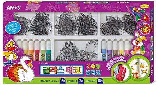 AMOS Suncatcher Glass Deco Decoration Art Craft Kit for kids - 12 Colours 20 Suncatchers