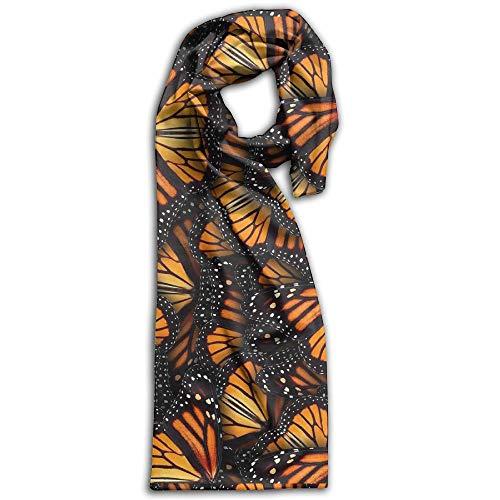 - Womens Warm Winter Infinity Scarves Set Scarves Polyester Scarf - Heaps Of Orange Monarch Butterflies Scarf