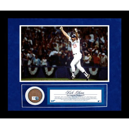 Kirk Gibson Autographed 1988 World Series Home Run 8 Inches by 10 inches Dirt Collage
