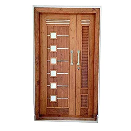 Chanda Furnitures Pure Teak Wood Double Door Amazon In