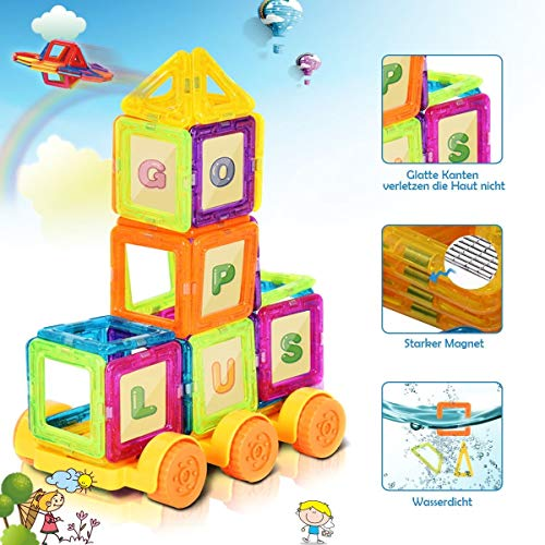 LordBee Attractive Colorful 158 pcs Magical Magnetic Construction Building Blocks Non-Toxic Harmless Plastic Magnet by LordBee (Image #4)