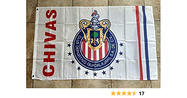 Chivas Guadalajara Flag Banner 3x5 ft Rojiblancos Mexico Futbol ...