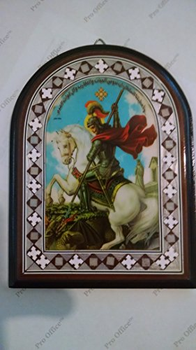 George Icon ( St. George icon, Christian gift. Orthodox style - wood decor picture)
