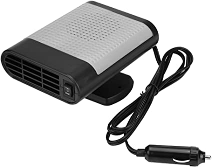 Gray Aramox Car 12V Portable Electric Window Heater Heating Dryer Windshield Fan Defroster Demister Window Defroster