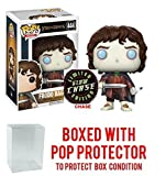 Funko Pop! Movies: The Lord of the Rings - Frodo Baggins Glow in the Dark CHASE VARIANT Figure (Bundled with Pop BOX PROTECTOR CASE)