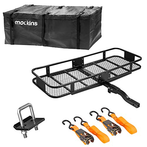 """Mockins Hitch Mount Cargo Carrier And Cargo Bag 