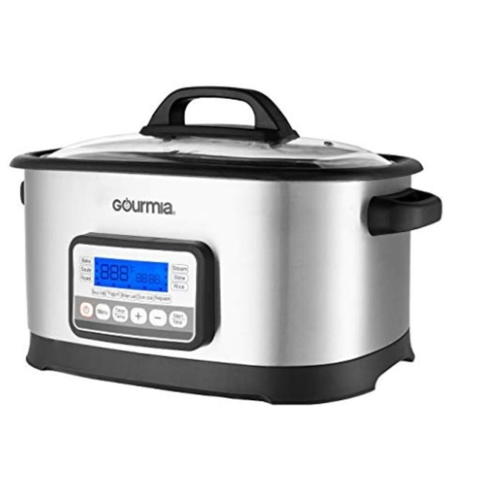Gourmia GMC650 11 in 1 Sous Vide Multi Cooker – Stainless Steel with LCD Display Multiple Cooking Options, Bonus Accessories Free Recipe Book
