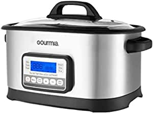 Gourmia GMC650 11 in 1 Sous Vide & Multi Cooker - Stainless Steel with LCD Display Multiple Cooking Options, Bonus Accessories & Free Recipe Book