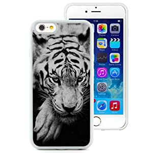 Fashionable Custom Designed iPhone 6 4.7 Inch TPU Phone Case With White Siberian Tiger_White Phone Case