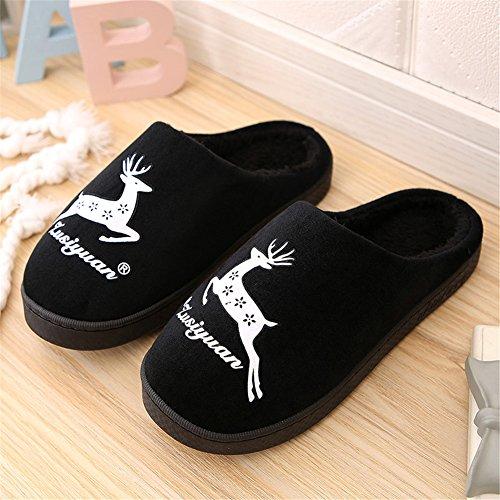 Slip Pantoufles Coton Anti Noir Peluche Chaussures Maison Hommes Pantoufles Intérieur Femmes GreatParagon Pantoufles En Chauds Rembourré 04 Couple En Paragon cywp061qC
