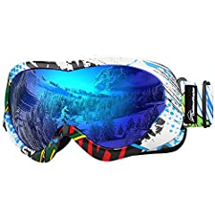 Helmet Compatible Kids Ski Goggles Snow goggles compatible with any ski helmet. Suitable for both boys & girls 6+ years. Available in several different colorful lens and frame options.100% UV Protection Eye protection matters. That's why ...