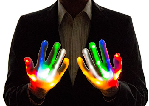 Neon Nightlife Light Up Gloves for Kids, LED, Multicolor (Neon Party Outfits)