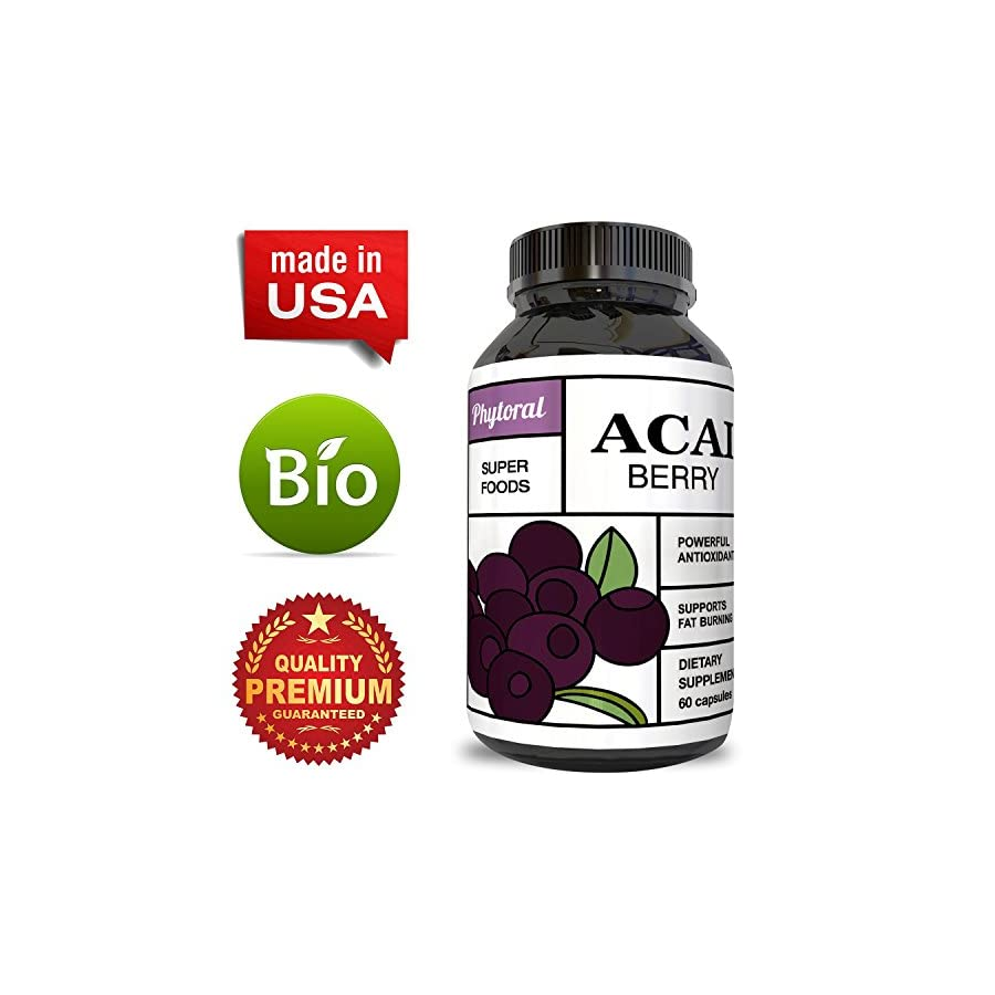 Acai Berry Antioxidant Support Weight Loss Supplement for Women and Men – Vitamins + Minerals + Antioxidant Formula Supports Immune System and Boost Energy + Cognitive Health