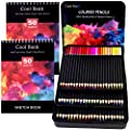 Colored Pencils Set- Pre-Sharpened Nontoxic Art Supplies for Coloring Books, Premium Artist Soft Series Lead with Vibrant Colors for Beginners & Pro Artists in Tin Box
