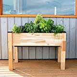 CedarCraft - Elevated Self-Watering Standing Planter [ 19'' W x 42'' L x 30'' H ] Holds up to 2.4cu.ft of Soil