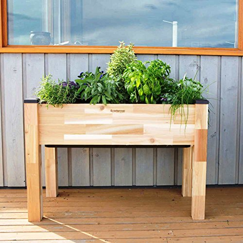 CedarCraft - Elevated Self-Watering Standing Planter [ 19'' W x 42'' L x 30'' H ] Holds up to 2.4cu.ft of Soil by CedarCraft ®