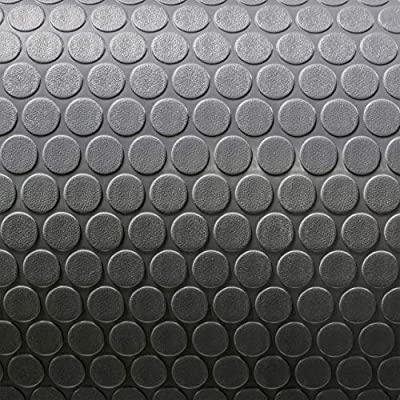 """8' 6"""" Wide Coin Pattern RV Flooring Grey- 10 Foot Section"""