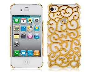 PC Hollow Designed Protective Case for iPhone 4 & 4S (Golden)