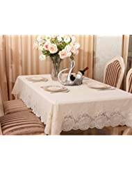 Roses PV C Lace Waterproof Tablecloths Waterproof Oil Proof Disposable Tablecloths Table Mat Rural European Style Tablecloths A 132x132cm 52x52inch