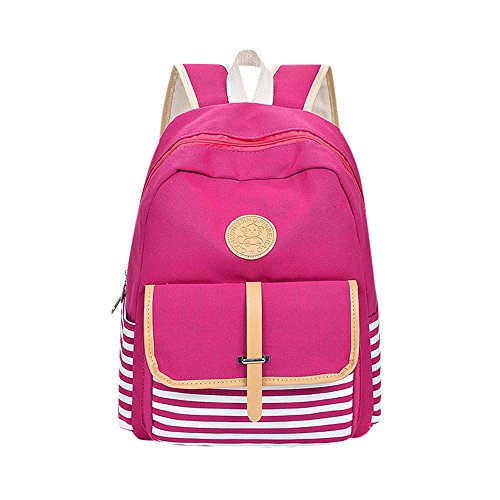 Girls Bookbags Women and Shoulder For Small Lightweight Canvas Boys ALIKEEY Purple amp; Girls Women Backpack Backpacks Preppy School Travel and Men Bags Bag nFFUqXH