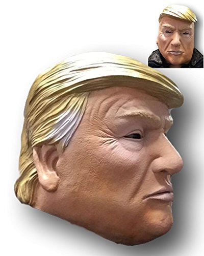 Rubber Johnnies TM, Donald Trump Mask, Latex, Republican, Presidential Candidate, Mask, Adult, Full Head -