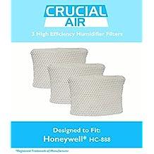 3 Honeywell HC-888 & Duracraft D88 Humidifier Filter Fits DCM-200, DH-888, 890, 890C DCM-891B, 891S (AC-888), HCM-890, 890B, 890C & HCM-890-20, Designed & Engineered by Crucial Air