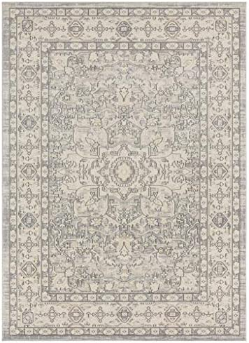 Luxe Weavers Kingsbury Collection Oriental 9×12 Silver Traditional Area Rug