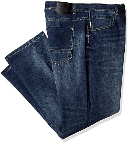 Southpole Men's Big and Tall Bt Basic Flex Slim Straight Stretch Fit Washed Denim Pants, Dark Sand Blue, (Straight Fit Basic Jean)