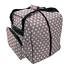 Hemline Dotty Mauve Polka Dot Serger or Overlock Tote Bag from Hemline