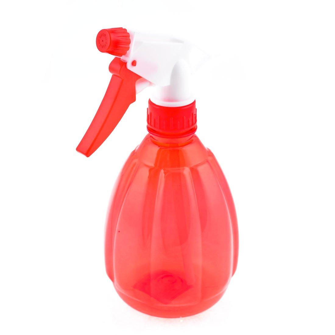 SODIAL(R) Clear Red Plastic Trigger Spray Bottle Flower Plant Water Sprayer 500ml