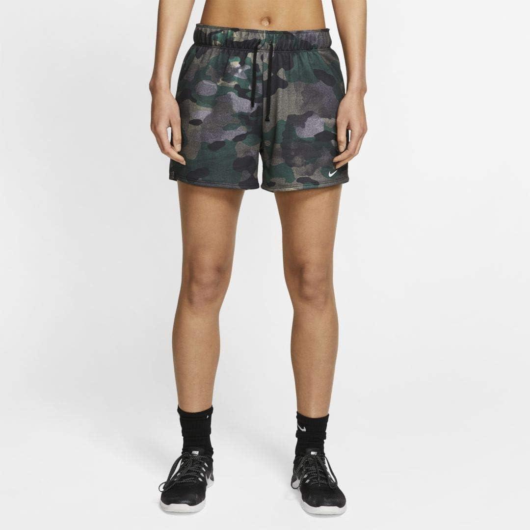 Nike Dri FIT Women's Camo Training Shorts Size XS (Club Gold