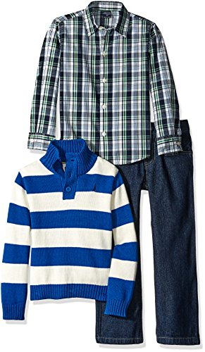 nautica-little-boys-three-piece-set-with-woven-shirt-quarter-button-sweater-and-pant-medium-blue-med