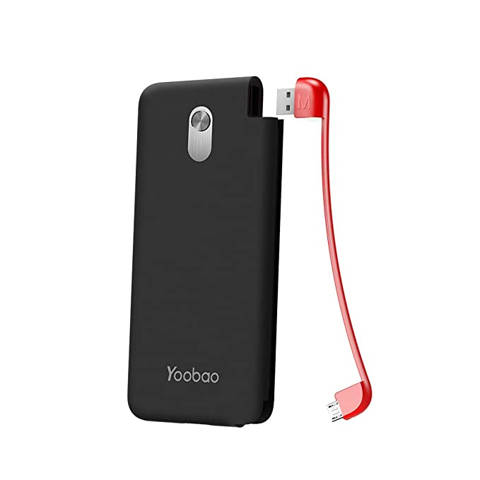 2b2d1bd511616a Yoobao Slim Portable Charger, 5000mAh Power Bank External Battery Pack Cell  Phone Backup Charger with