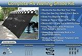RV Awning Shade Kit RV Shade Complete Kit 8x18 (Black)