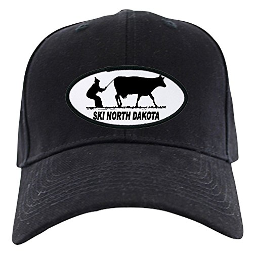 CafePress - Ski North Dakota - Baseball Hat, Novelty Black Cap